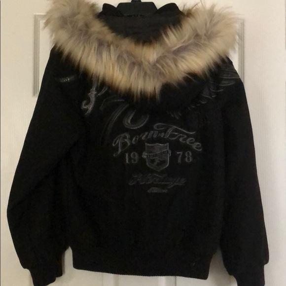 Pelle Pelle Other - Youth Wool Pelle Pelle Coat With Fur Hood
